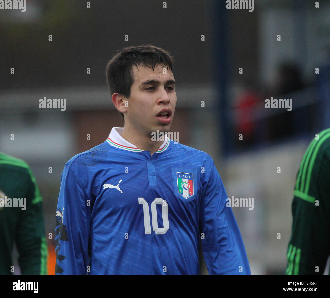 Mourneview Park, Lurgan. 05 March 2014. UEFA U21 Championship 2013-2015 Group 9 - Northern Ireland 0 Italy 2. Italy's - Stock Image