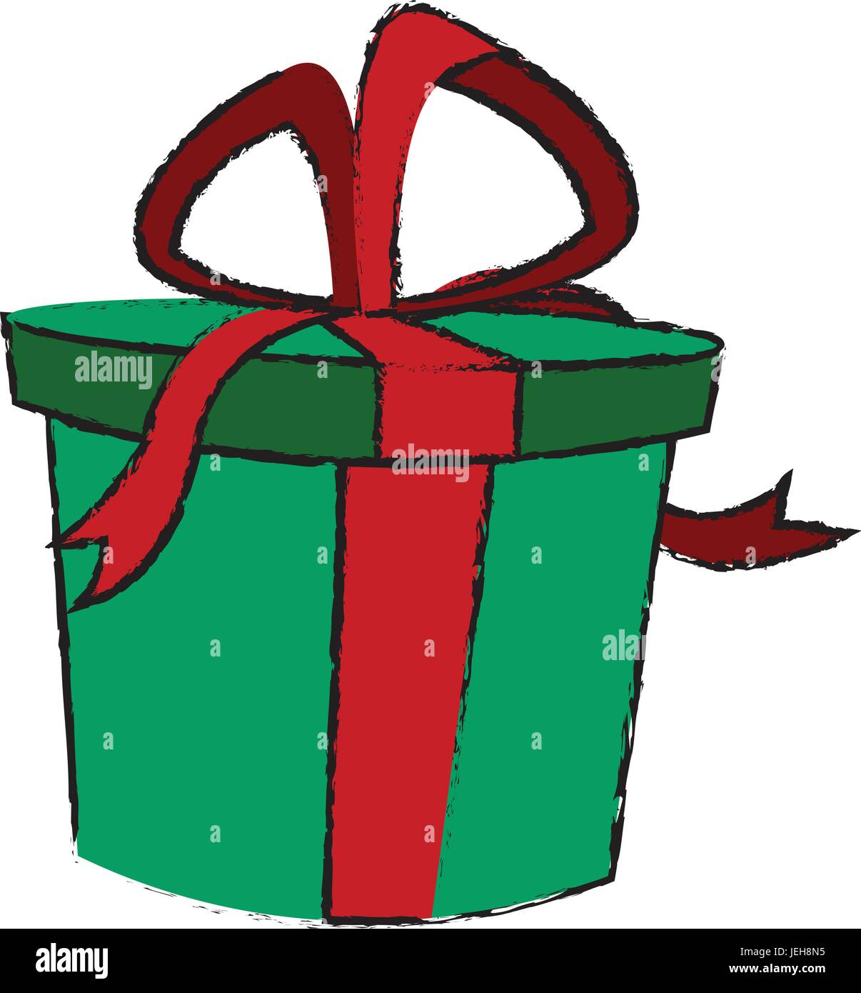 gift box decoration ribbon bow wrap Stock Vector Art & Illustration