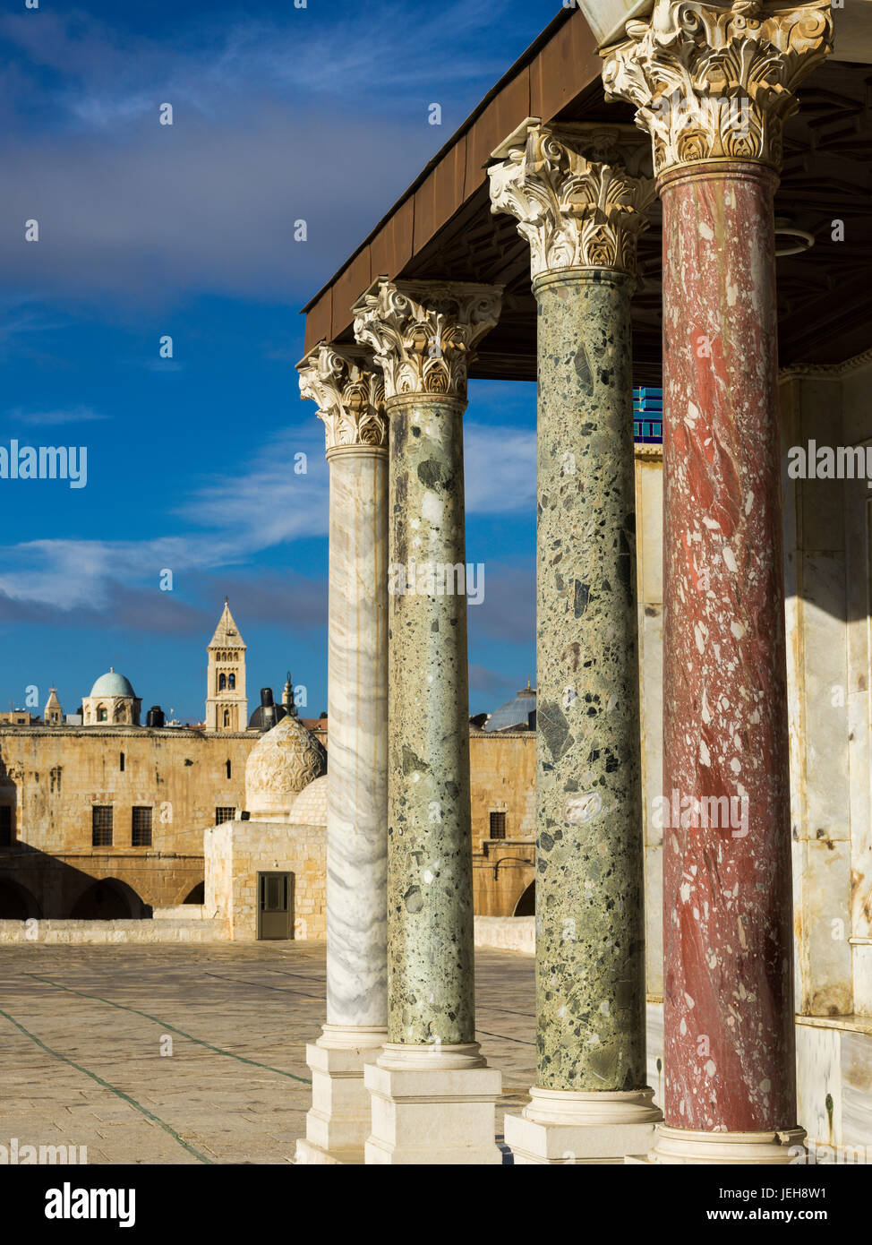 Temple Mount in the Old City of Jerusalem; Jerusalem, Israel - Stock Image