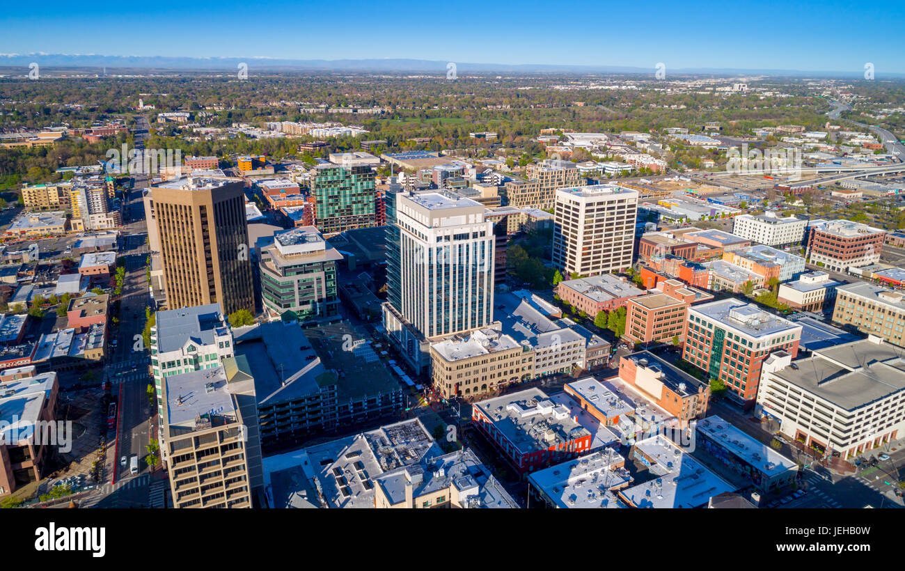 tallest building in the downtown district of boise idaho stock photo
