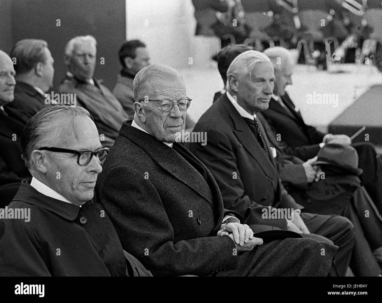 GUSTAF VI ADOLF Swedish King and Banker Marcus Wallenberg at ...