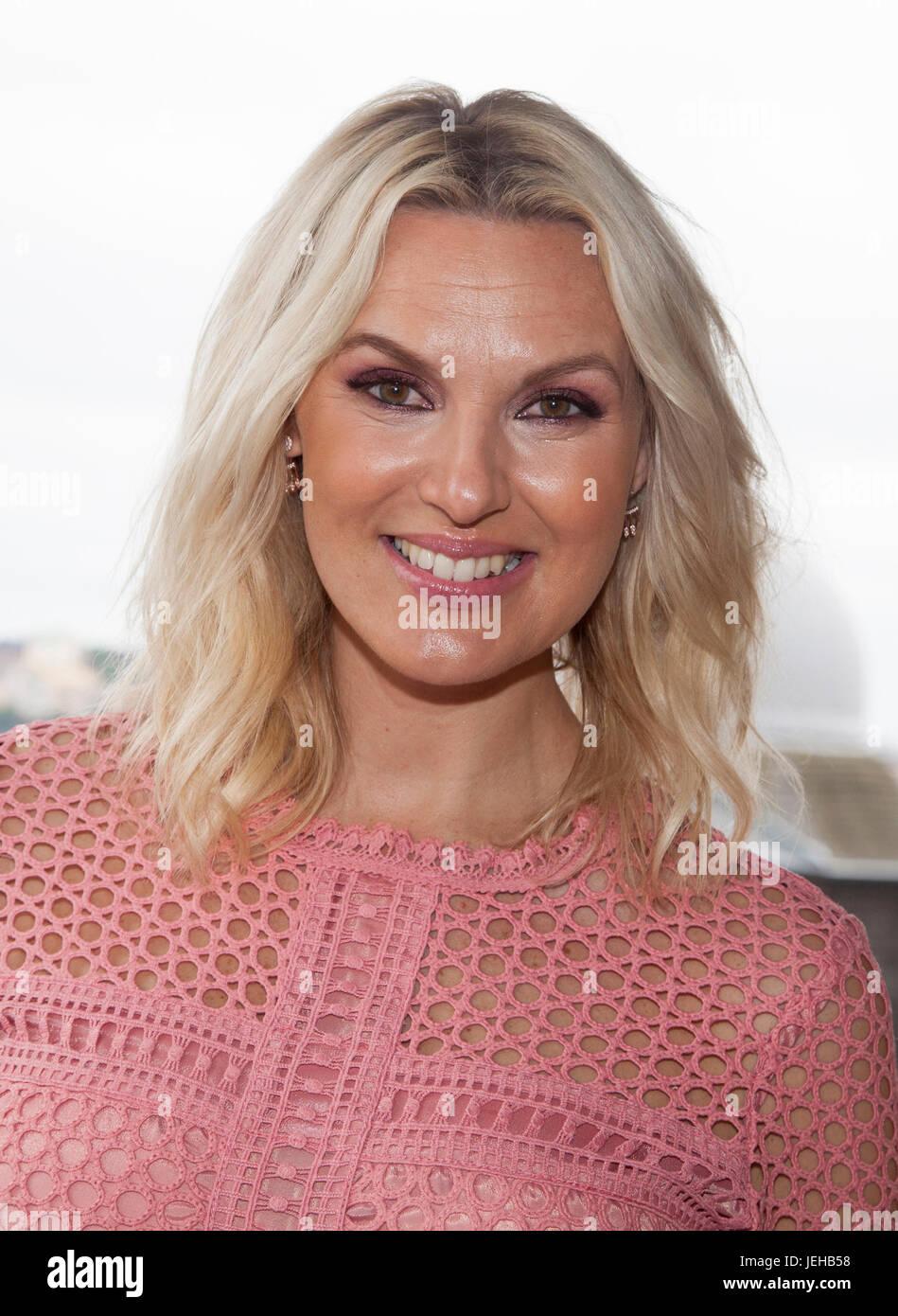 Sanna Nielsen Swedish Singer And Television Host For Allsang Pa Skansen In Swedish Television