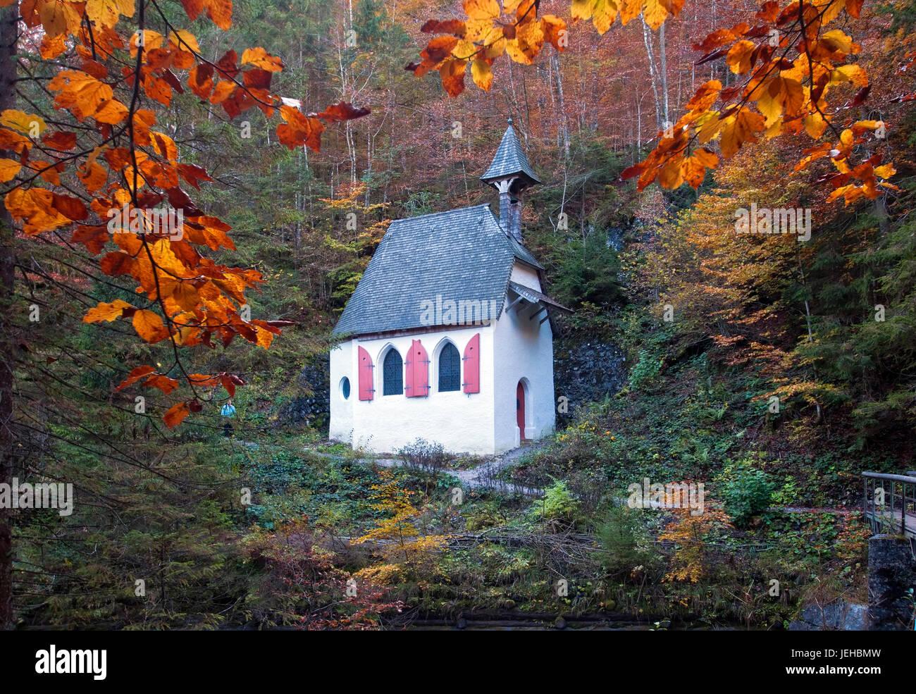 Konigsee, St. Johann und Paul Kapelle, Germany - Stock Image