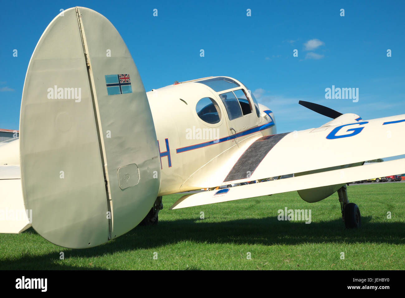 Miles M65 Gemini twin engine aircraft British built in 1947 registered as G-AKKH - Stock Image
