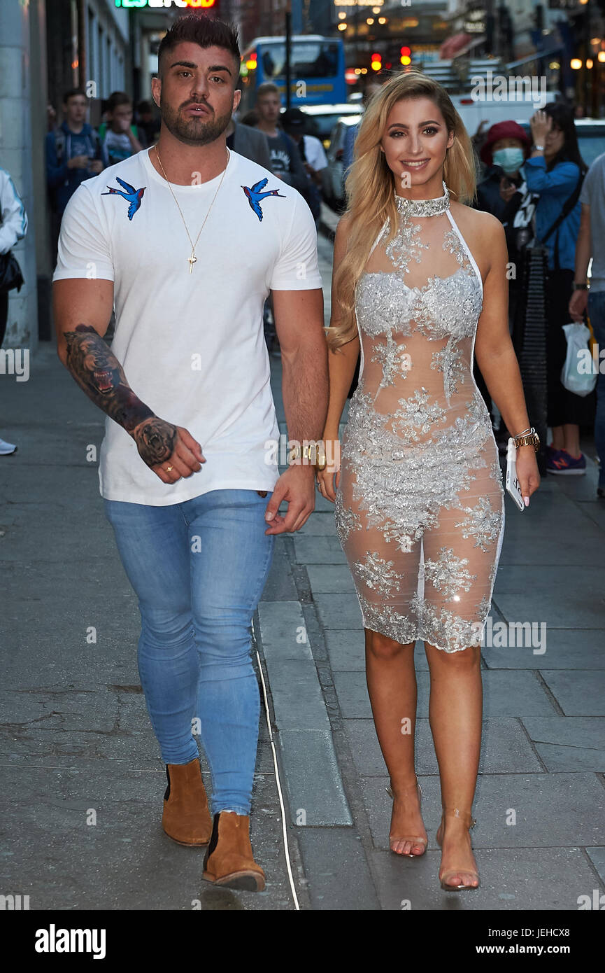 fecd0e492d2a8 Celeb arrivals as London nightspot hosts official Miss Swimsuit UK catwalk  show and afterparty. Featuring: Rogan O'Connor, Paige Fitzsimmons Where:  London, ...