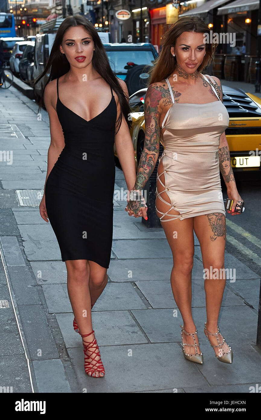 4cb2288d8dd38 Celeb arrivals as London nightspot hosts official Miss Swimsuit UK catwalk  show and afterparty. Featuring: Emma-Jane Woodhams, Salli Axel Where: London,  ...