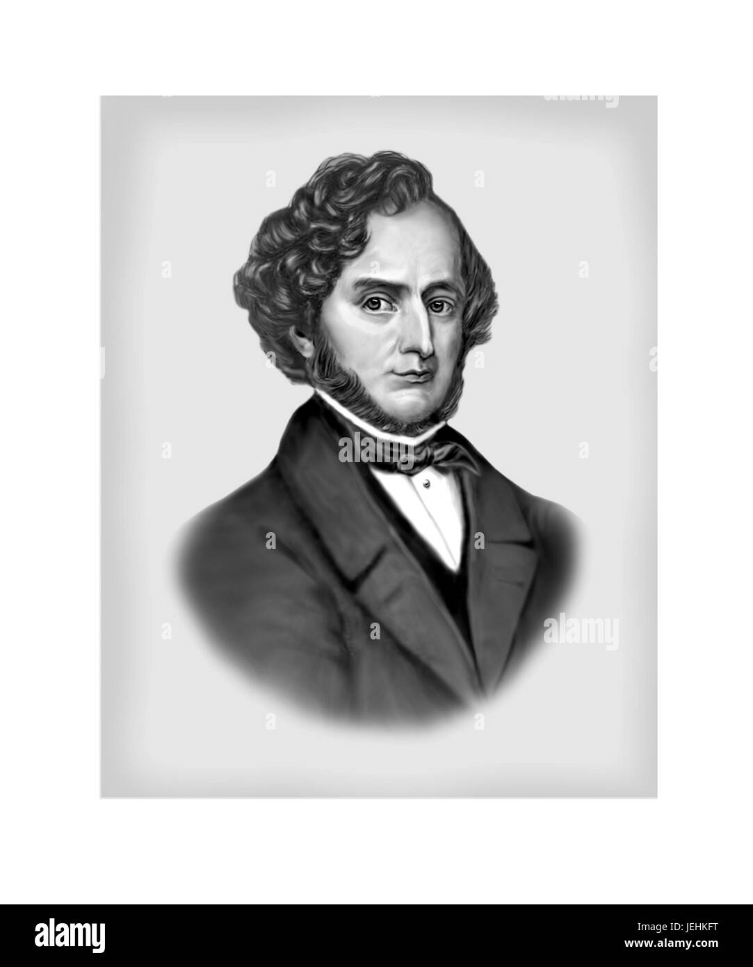 Hector Louis Berlioz, 1803 - 1869, French Composer - Stock Image