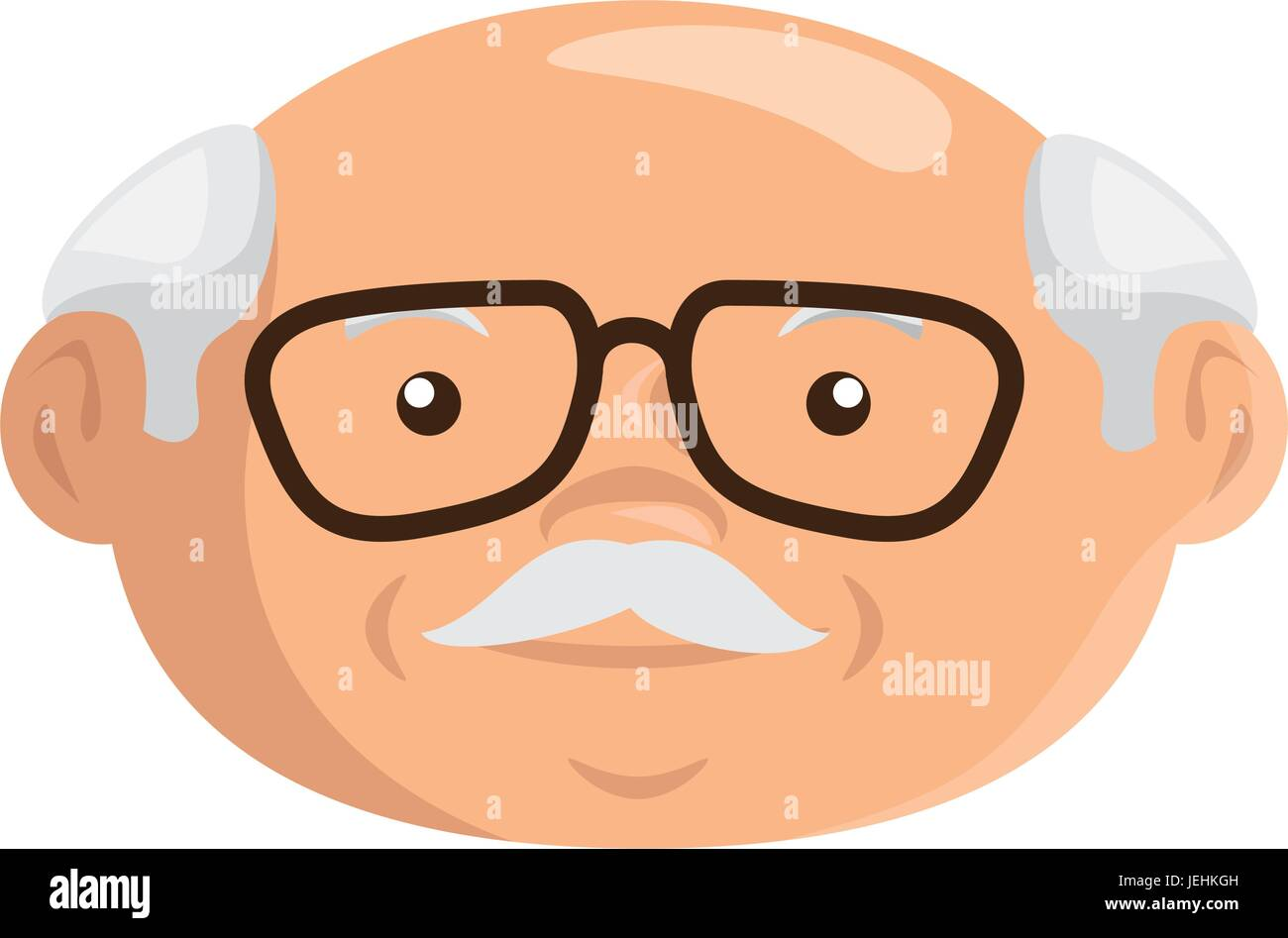 Caras De Abuelitos: Cartoon Grandfather Icon Stock Vector Art & Illustration