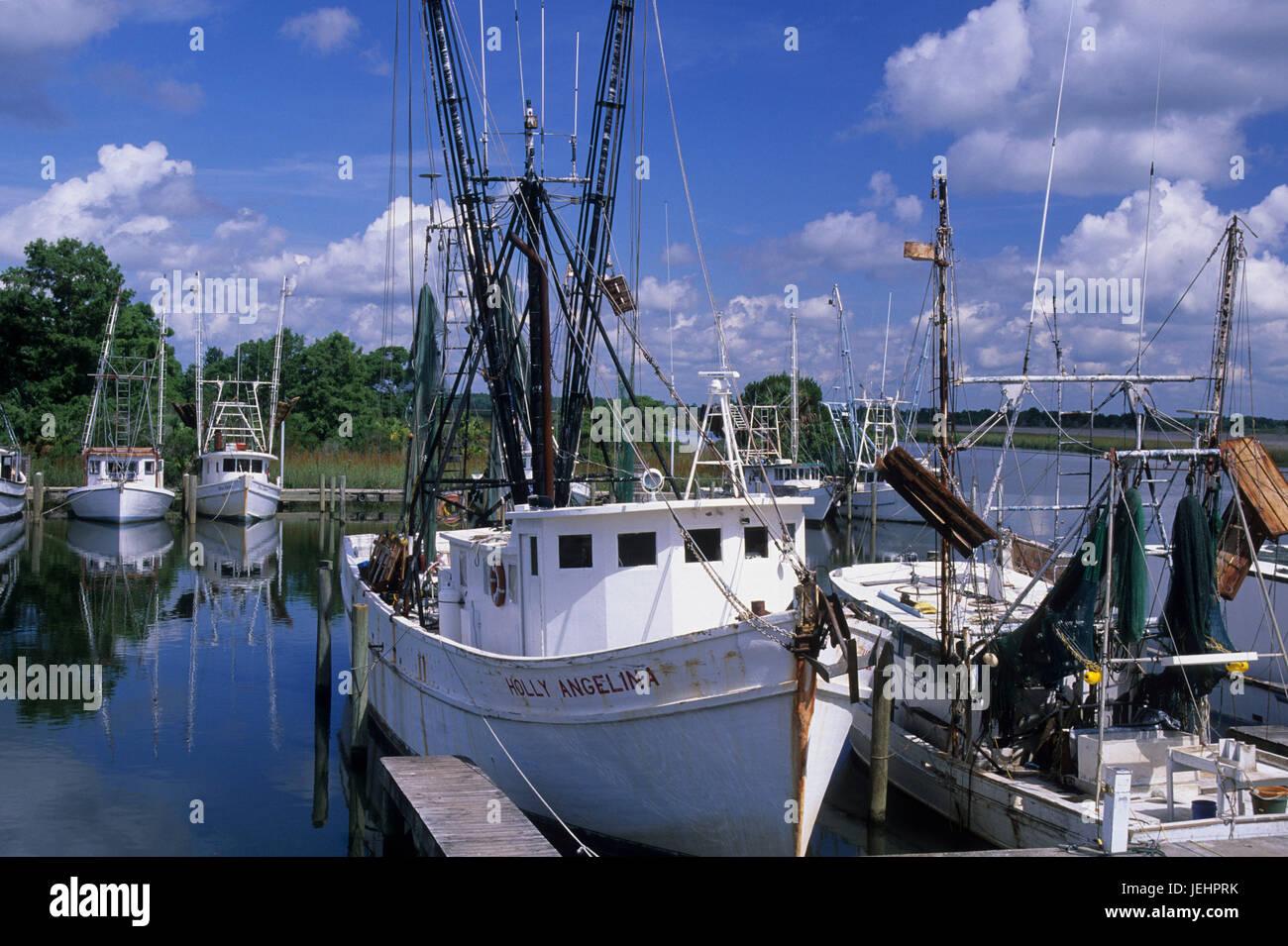 Shrimp boat, Apalachicola, Florida - Stock Image
