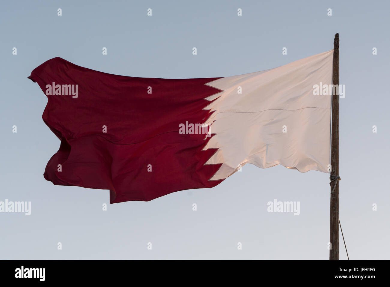 Qatari flag - Stock Image