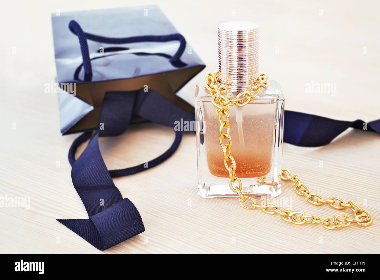 women accessories advertisement - cosmetics and jewelry - Stock Image