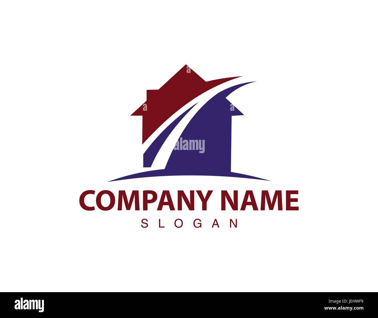 Street house logo - Stock Image