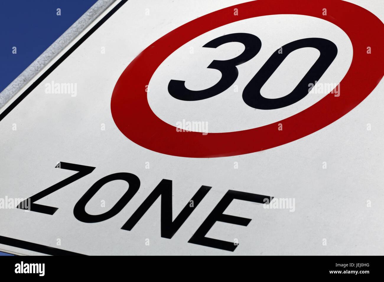 geschwindigkeitsüberschreitung 30 zone