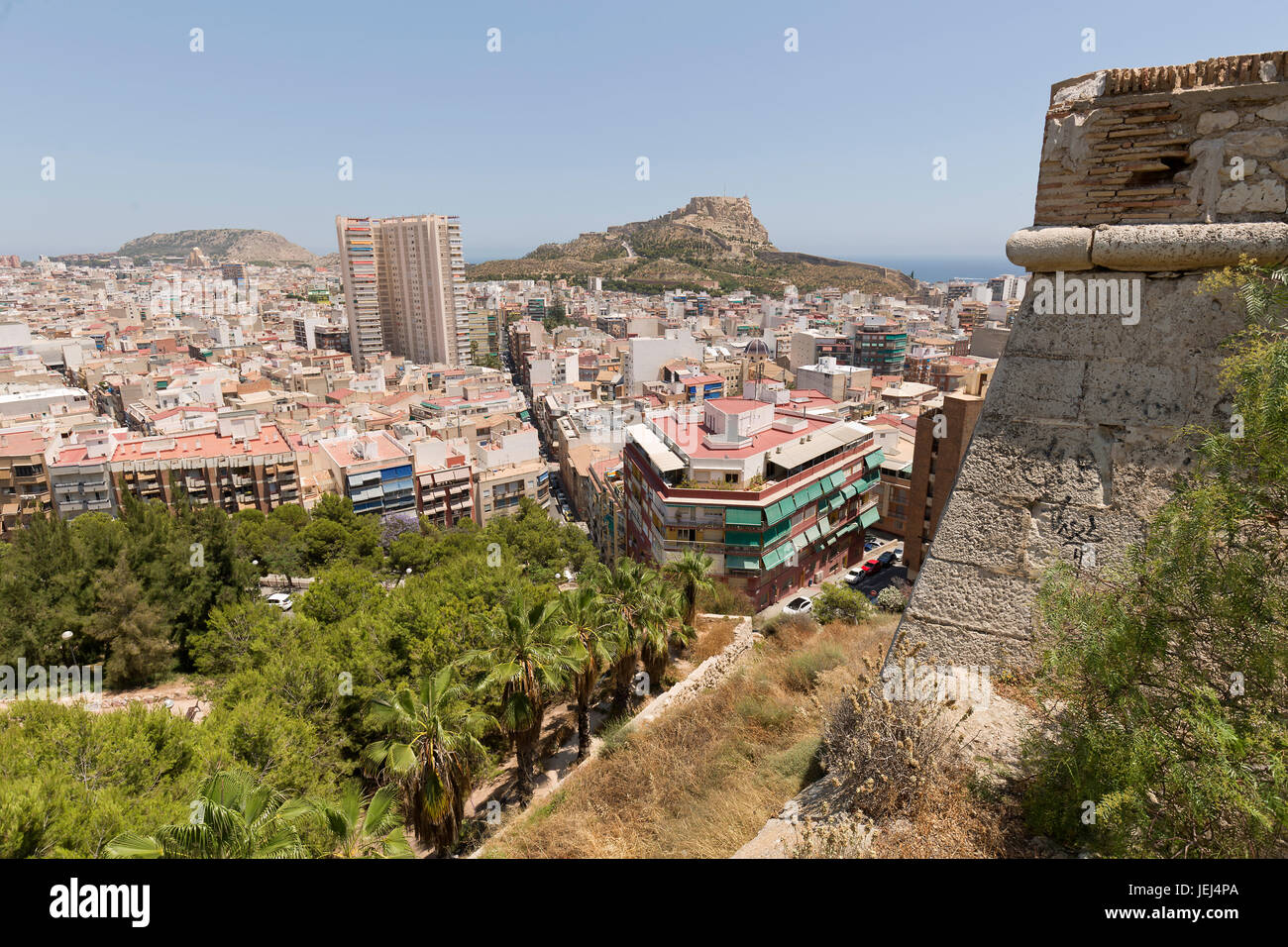 Views Of The City Of Alicante Spain Shot Taken From Monte Tossal