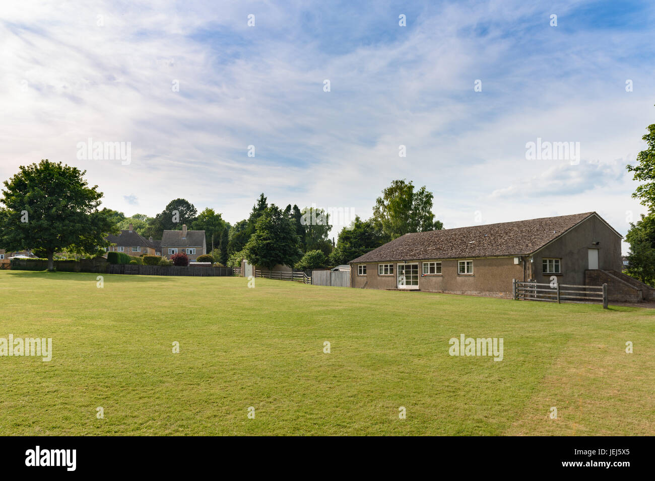 Guiting Power Village Hall Music Festival Ground, Cotswolds, UK - Stock Image