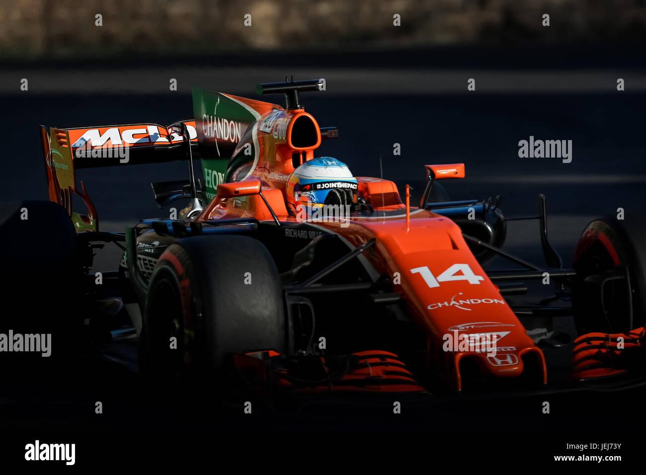 spanish formula one driver fernando alonso of mclaren honda f1 team