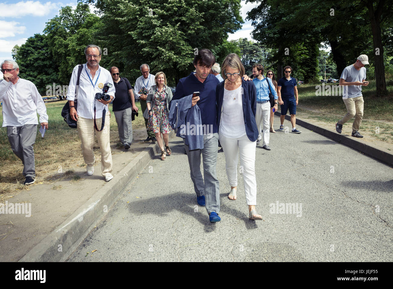 Paul Barlet / Le Pictorium -  Visit of Nicolas Hulot and Francoise Nyssen to the GoodPlanet Foundation -  25/06/2017 - Stock Image