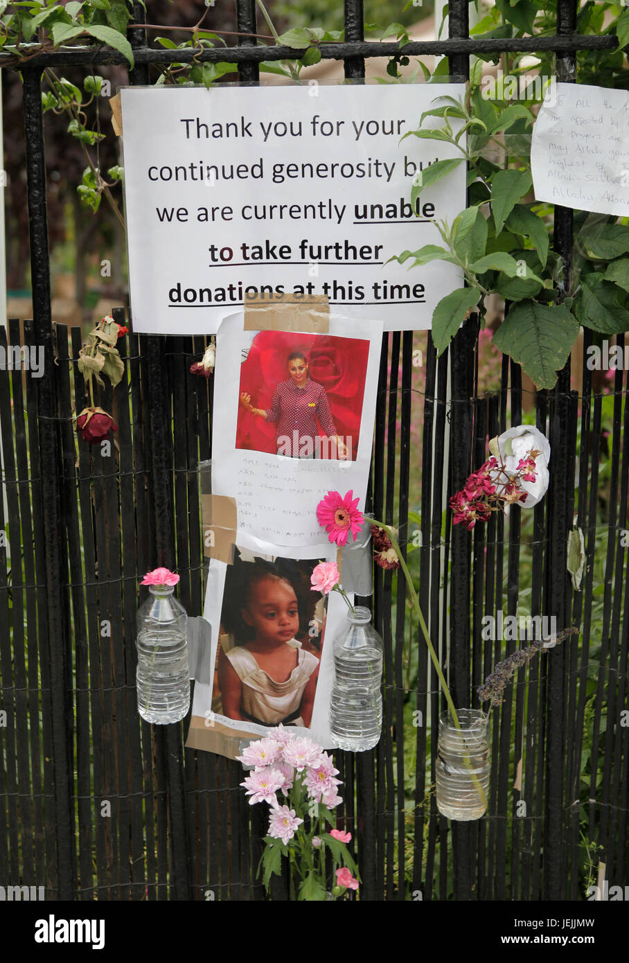 Grenfell tower block fire - Stock Image