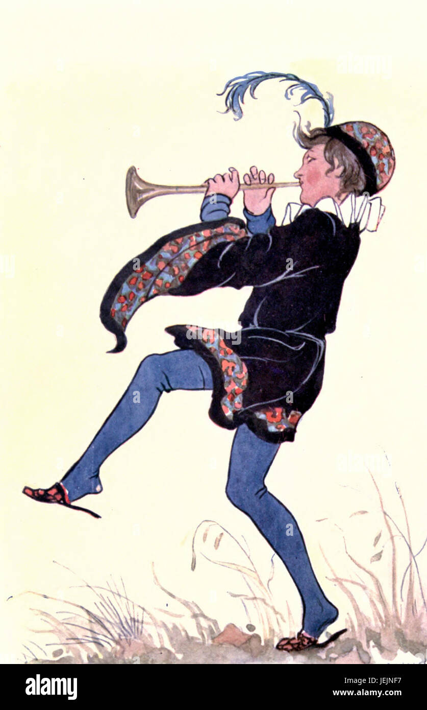 Tom, Tom, the Piper's Son, learned to play when he was young - Nursery Rhyme - Stock Image