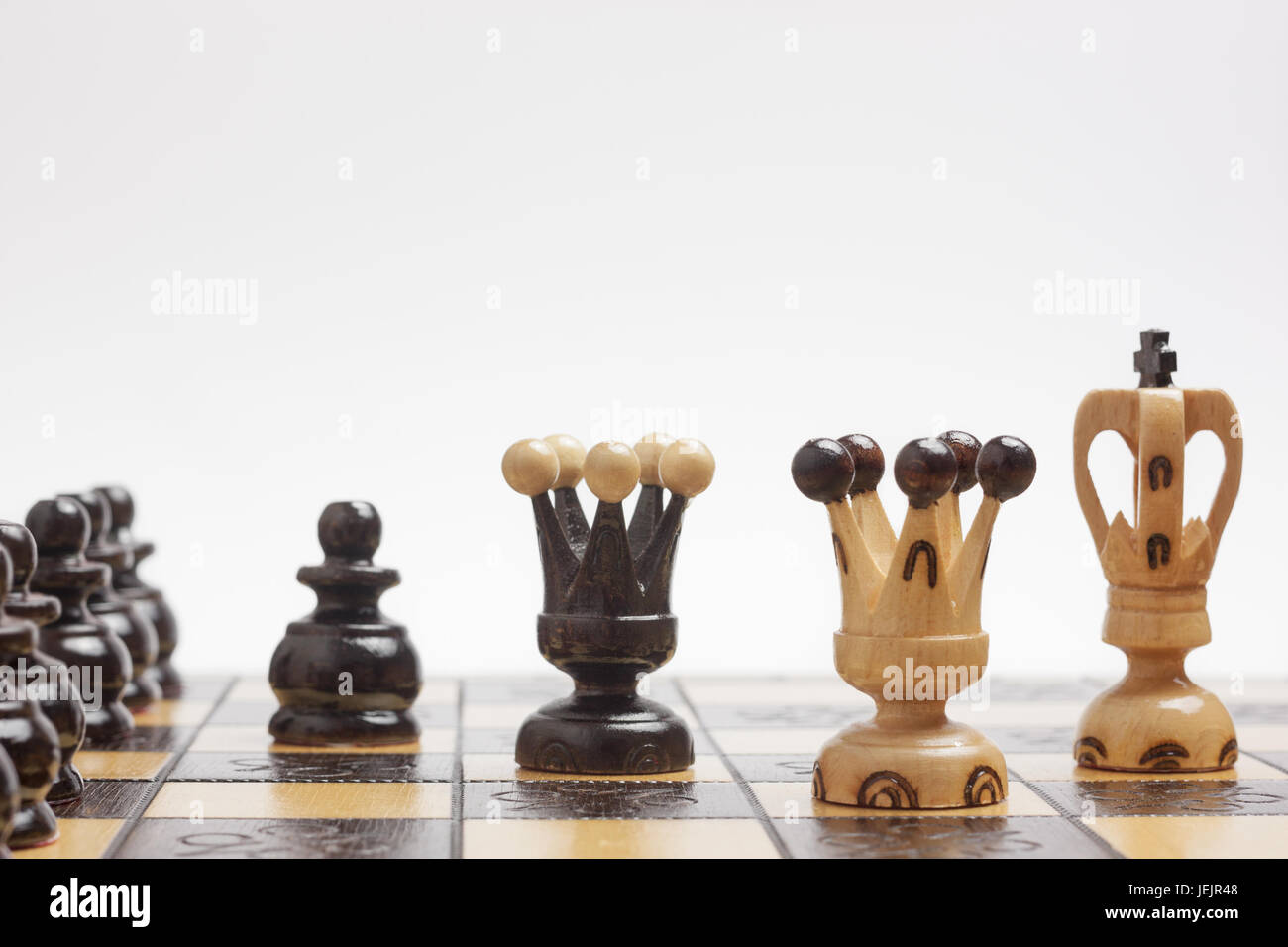 Strategy and tactics in a game of chess - Stock Image
