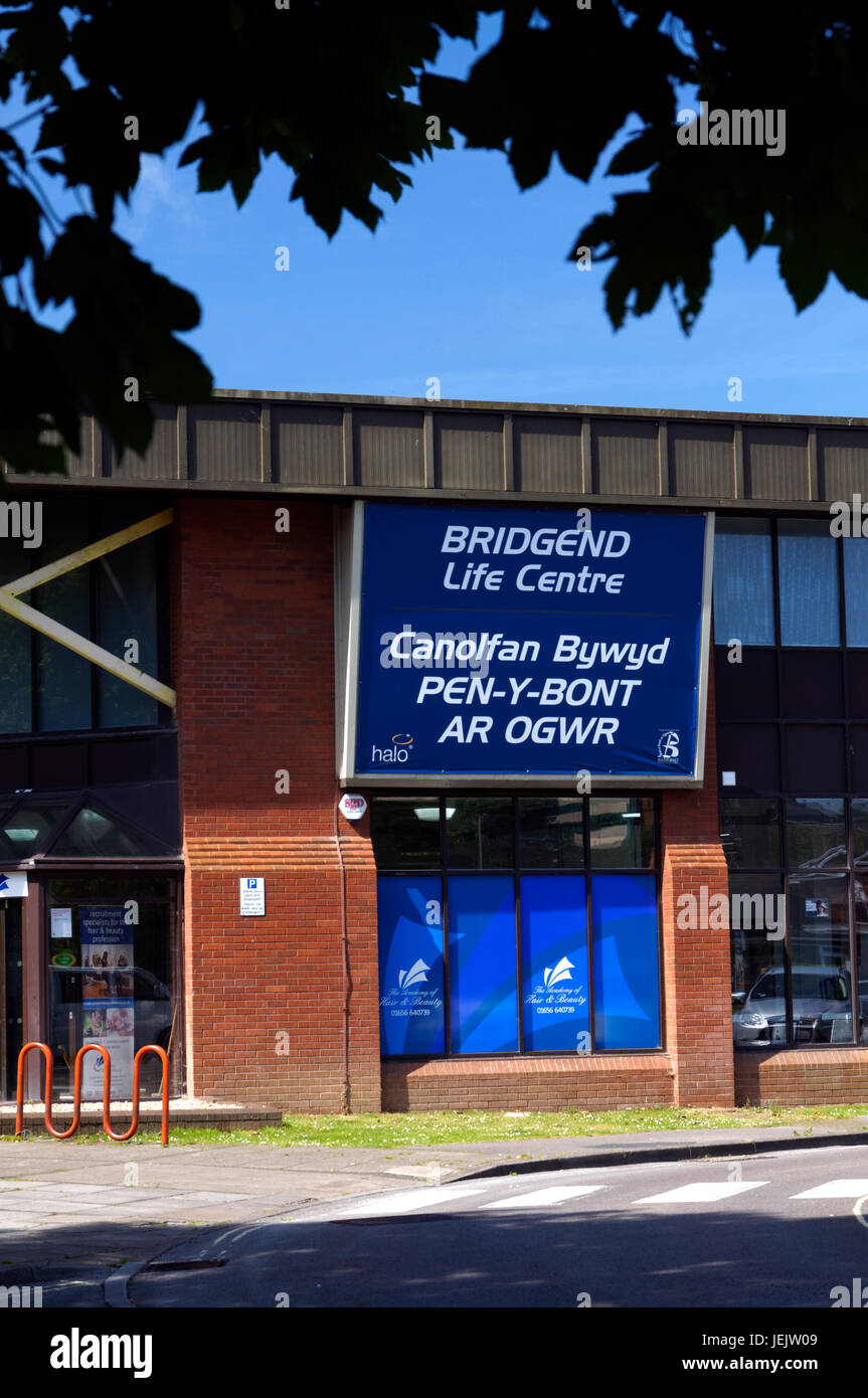 Bridgend Leisure Centre, Bridgend, South Wales. UK. - Stock Image
