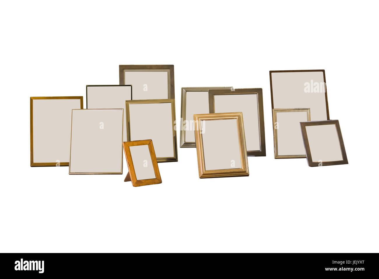 Isolated Portrait Photo Frames - Stock Image