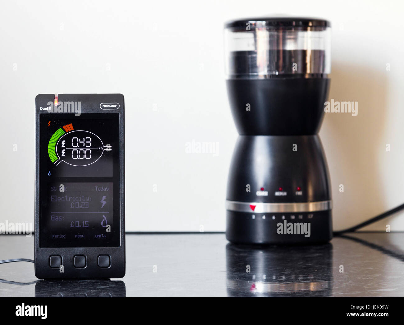 Npower smart meter home display - Stock Image