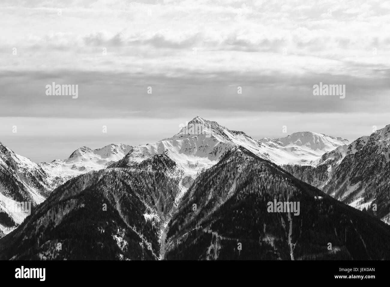Ilmspitze in Monochrome - Stock Image