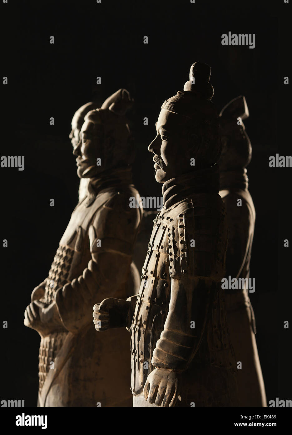 XIAN-MAY 21. Terracotta warriors. It is a collection sculptures (8,000 soldiers) buried with the first Chinese Emperor Stock Photo