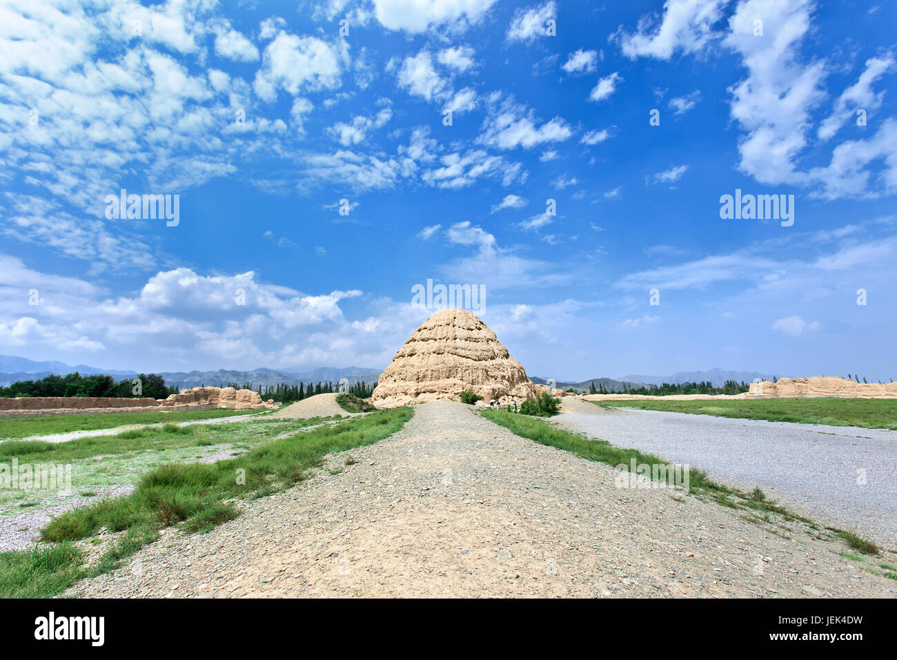 The West Xia Imperial Tombs in Yinchuan, Ningxia Province, China Stock Photo