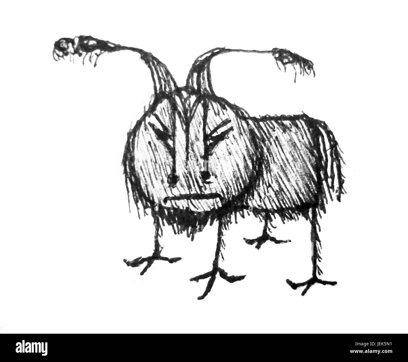 Angry animal pencil drawing