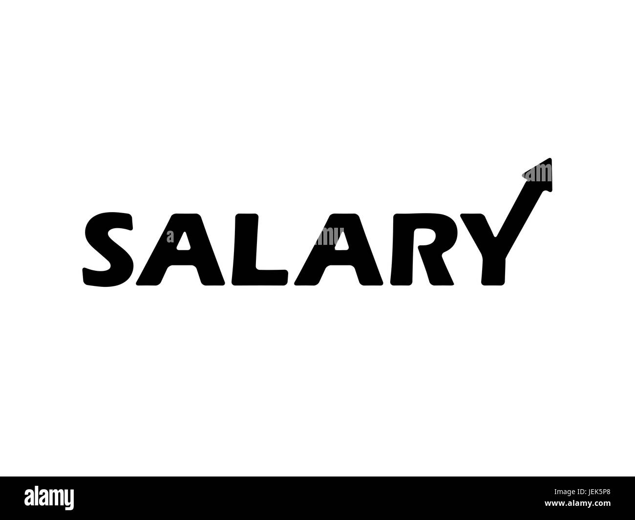 Salary Typographic Concept Design - Stock Image