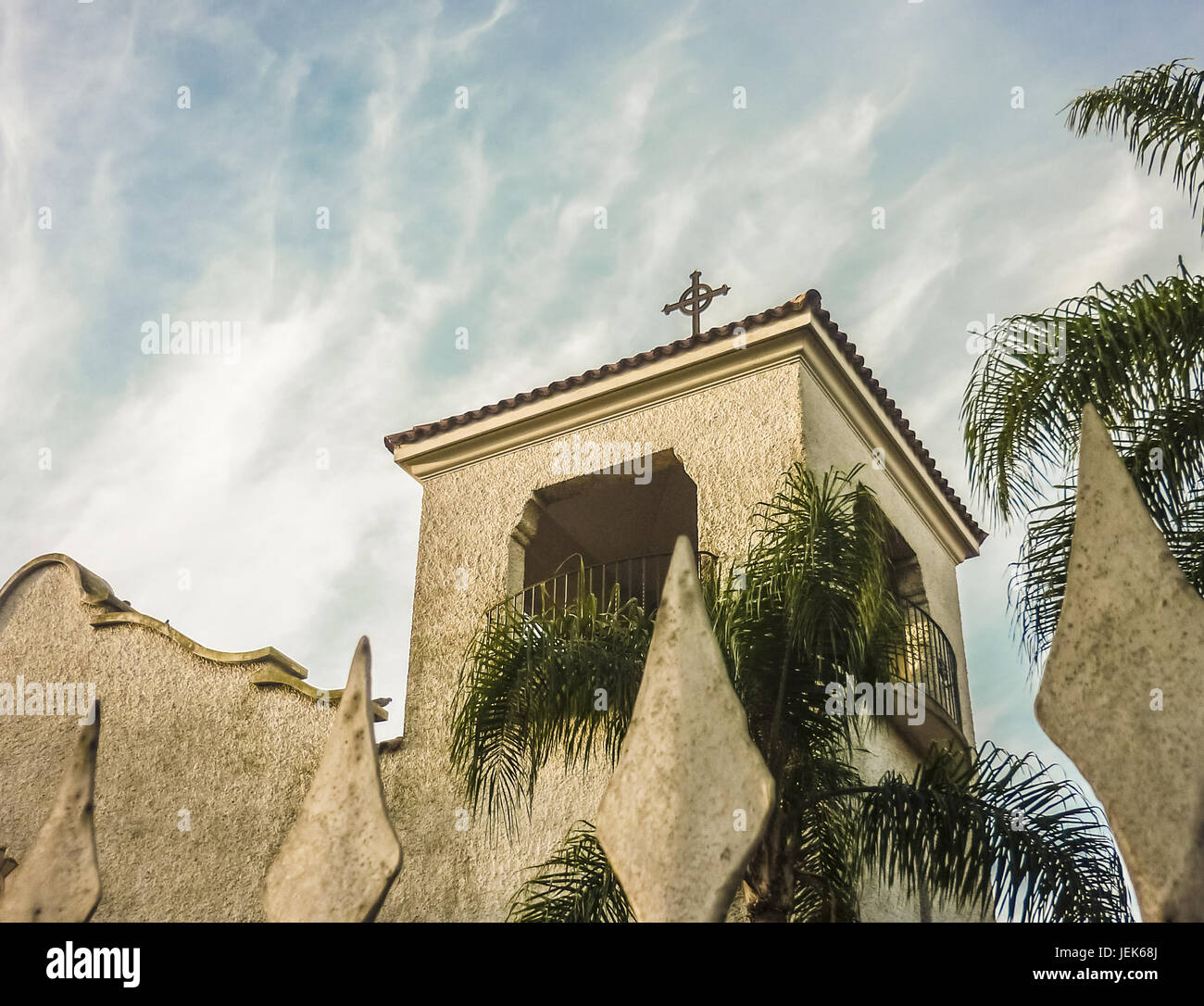 White Chapel Low Angel View - Stock Image
