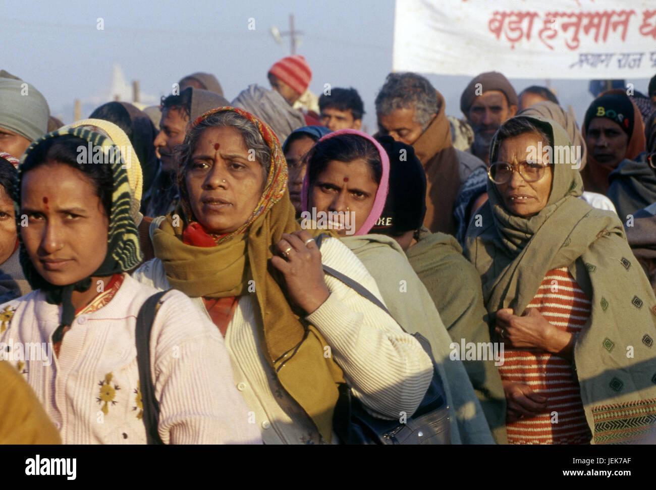 Pilgrimage kumbh mela festival, Allahabad, uttar pradesh, india, asia - Stock Image