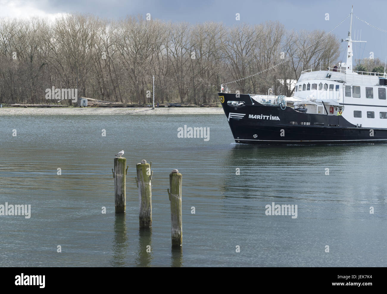 Trave in Travemuende - Stock Image