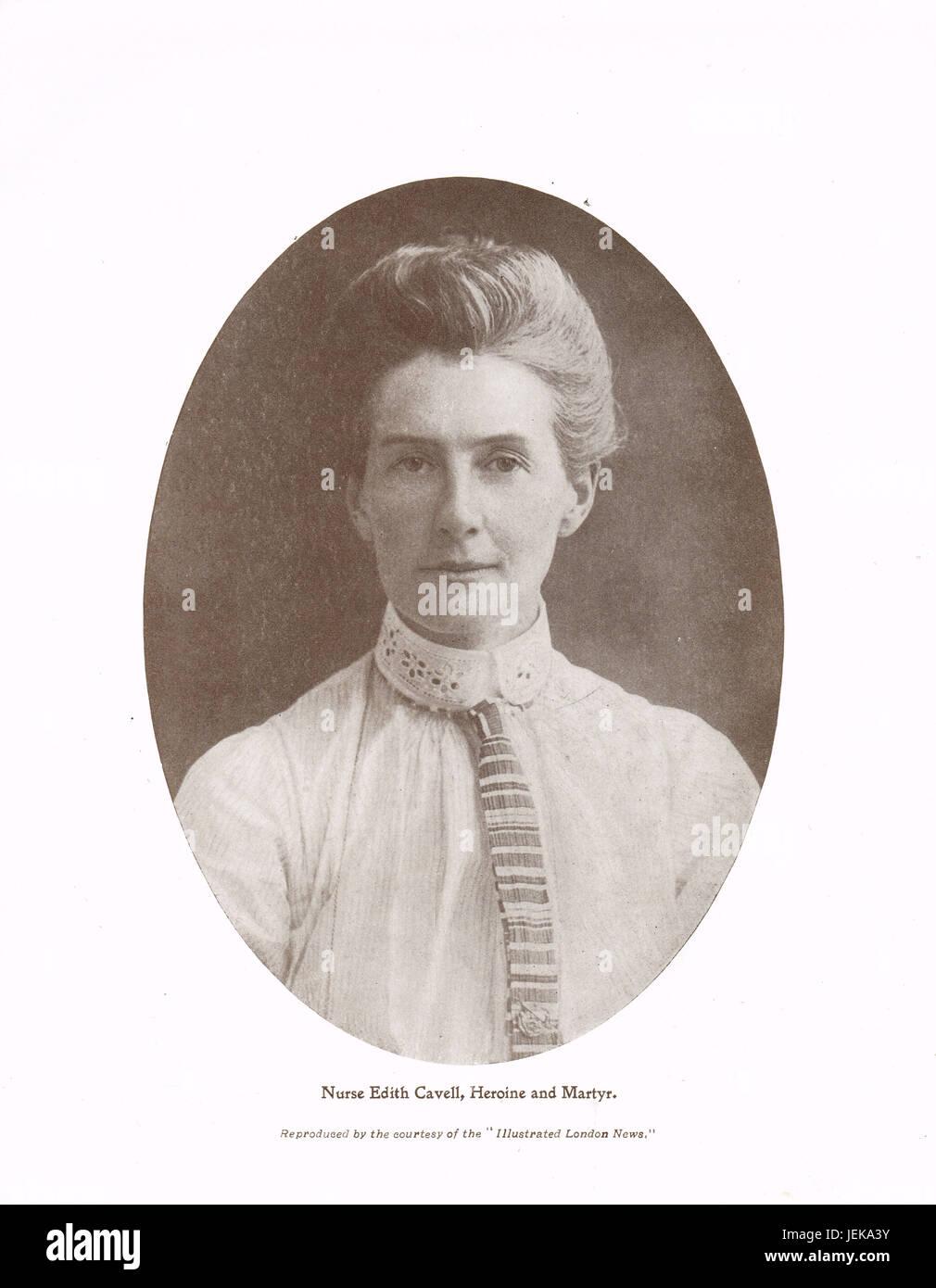 Nurse Edith Cavell Heroine and Martyr Stock Photo