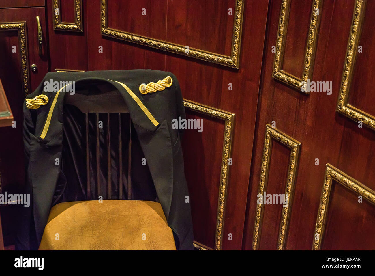 Doorman's place in the hotel - Stock Image
