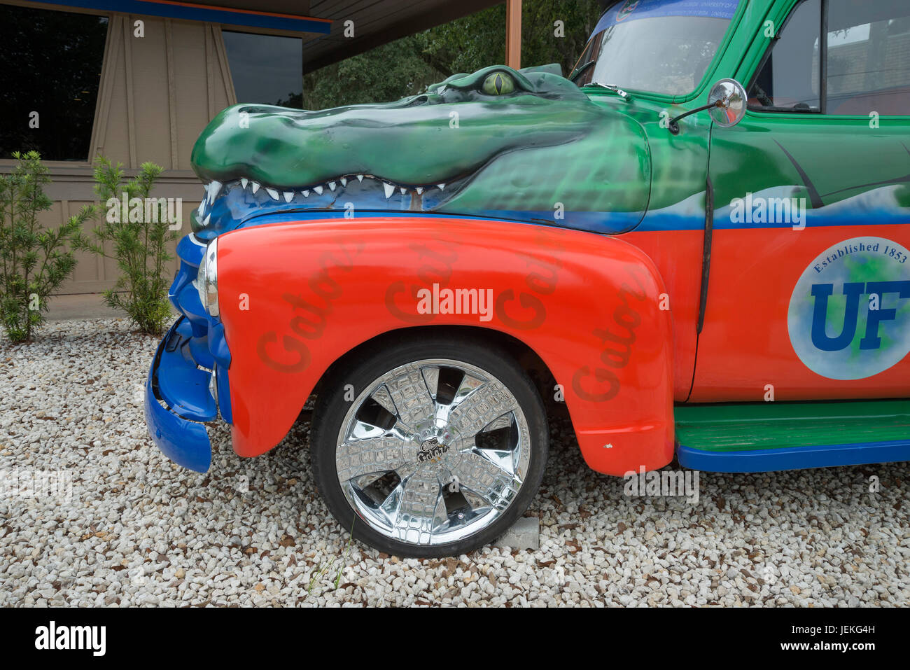 Gator Truck near the University of Florida in Gainesville, Florida. - Stock Image