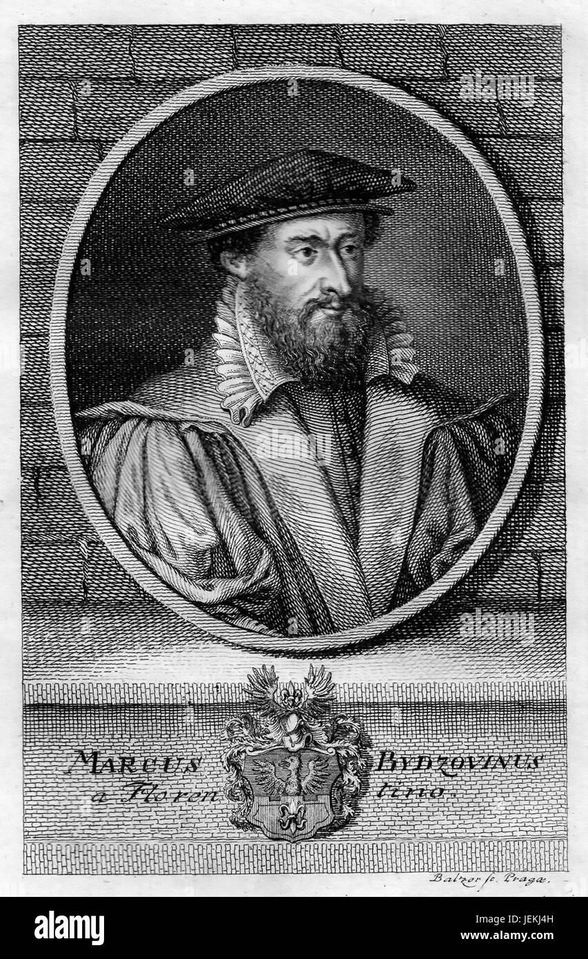 MAREK BYDZOVSKY (1540-1612) Czech scholar - Stock Image