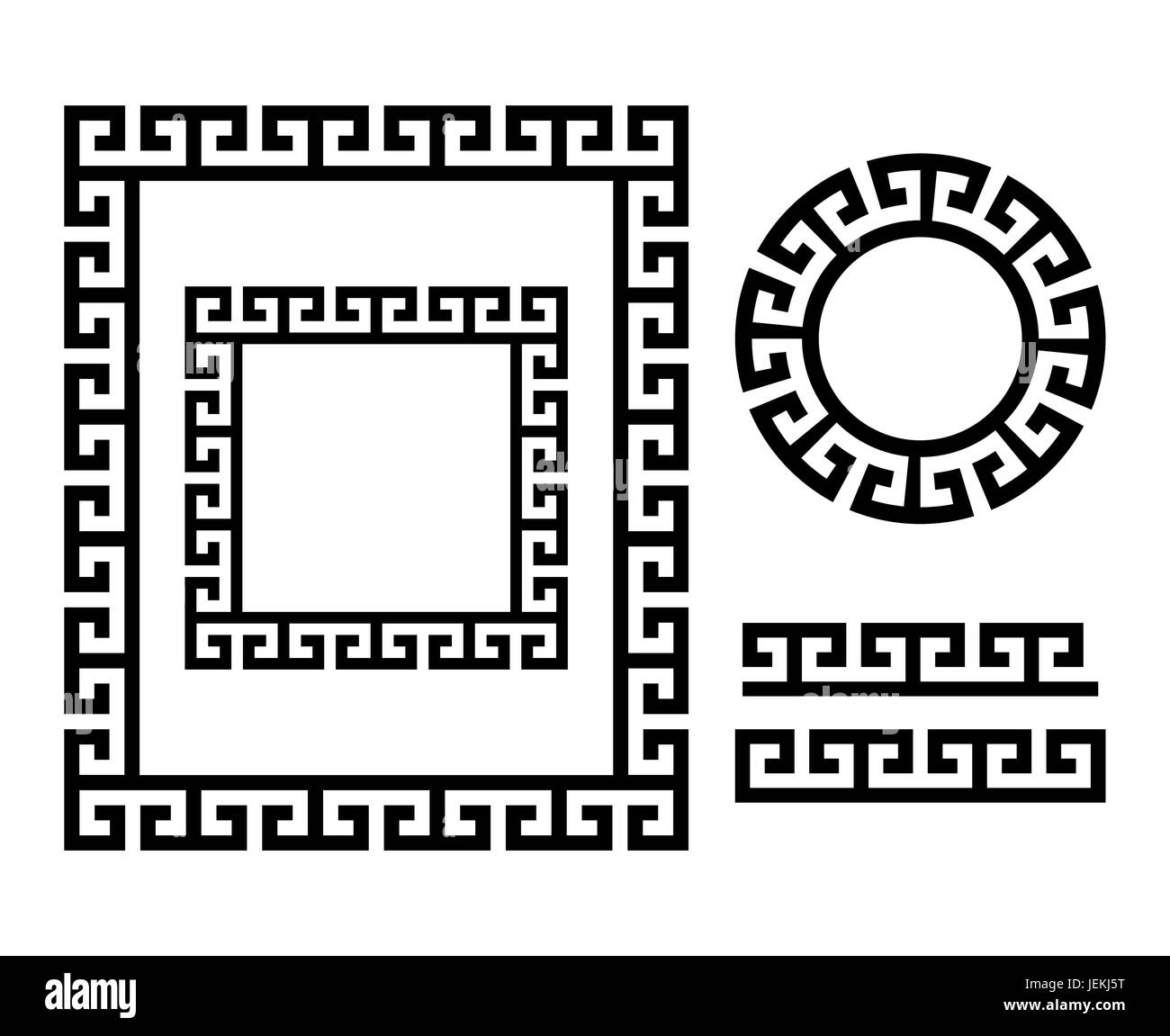 Ancient Greek frame and border - Key pattern form Greece - Stock Image