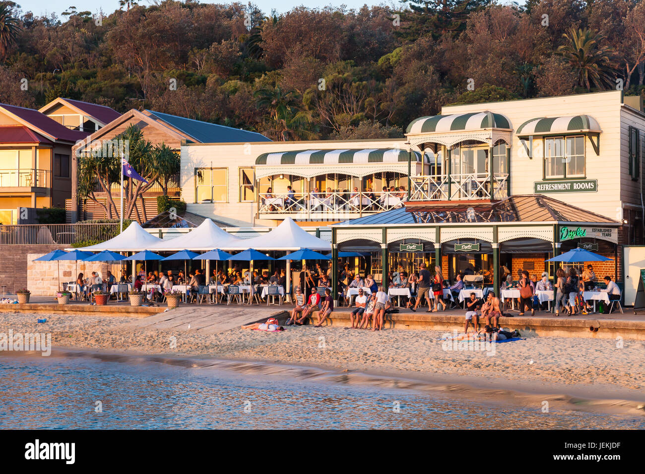Shots of the famous Doyles Seafood Restaurant, Watsons Bay, next to the Watsons Bay Hotel, Sydney, Australia - Stock Image