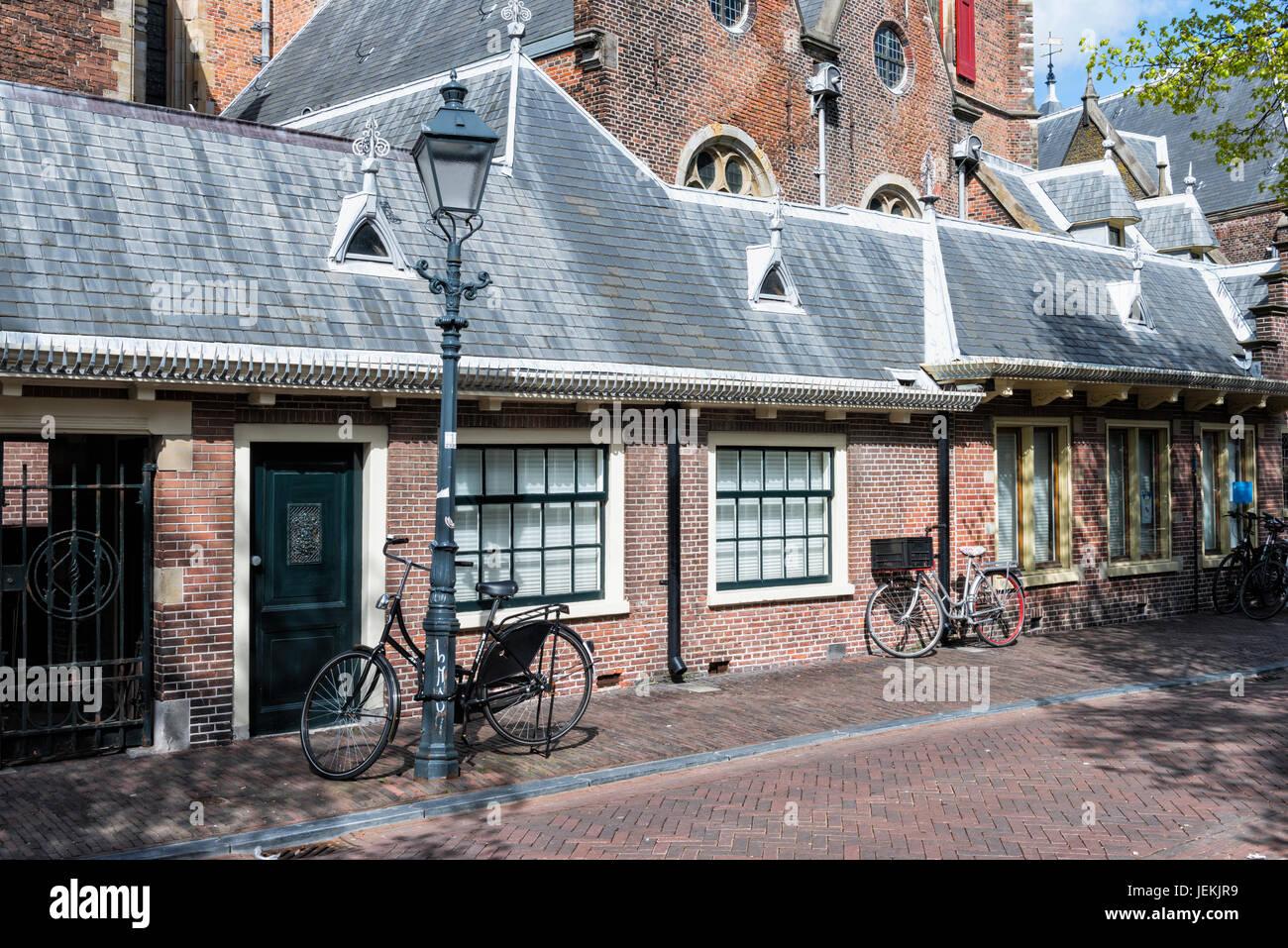 Late Gothic Grote Kerk or St.-Bavokerk Protestant church, Haarlem, North Holland, The Netherlands - Stock Image
