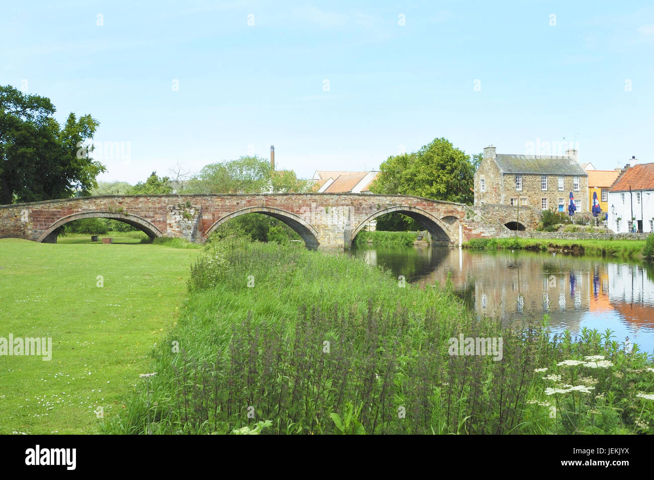 the old bridge over the river Tyne at Haddington, east Lothian, Scotland - Stock Image