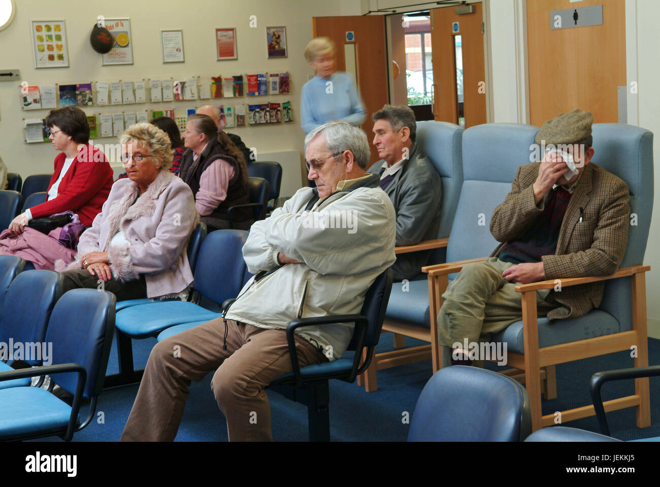 Waiting room in the NHS (National Health Service) East Quay