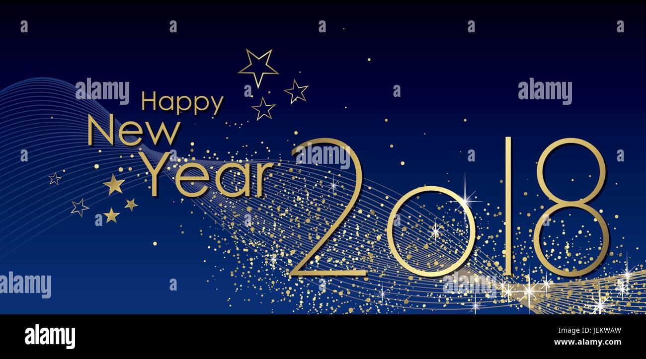 Happy New Year 2018 Greeting Card Vector Stock Vector Art