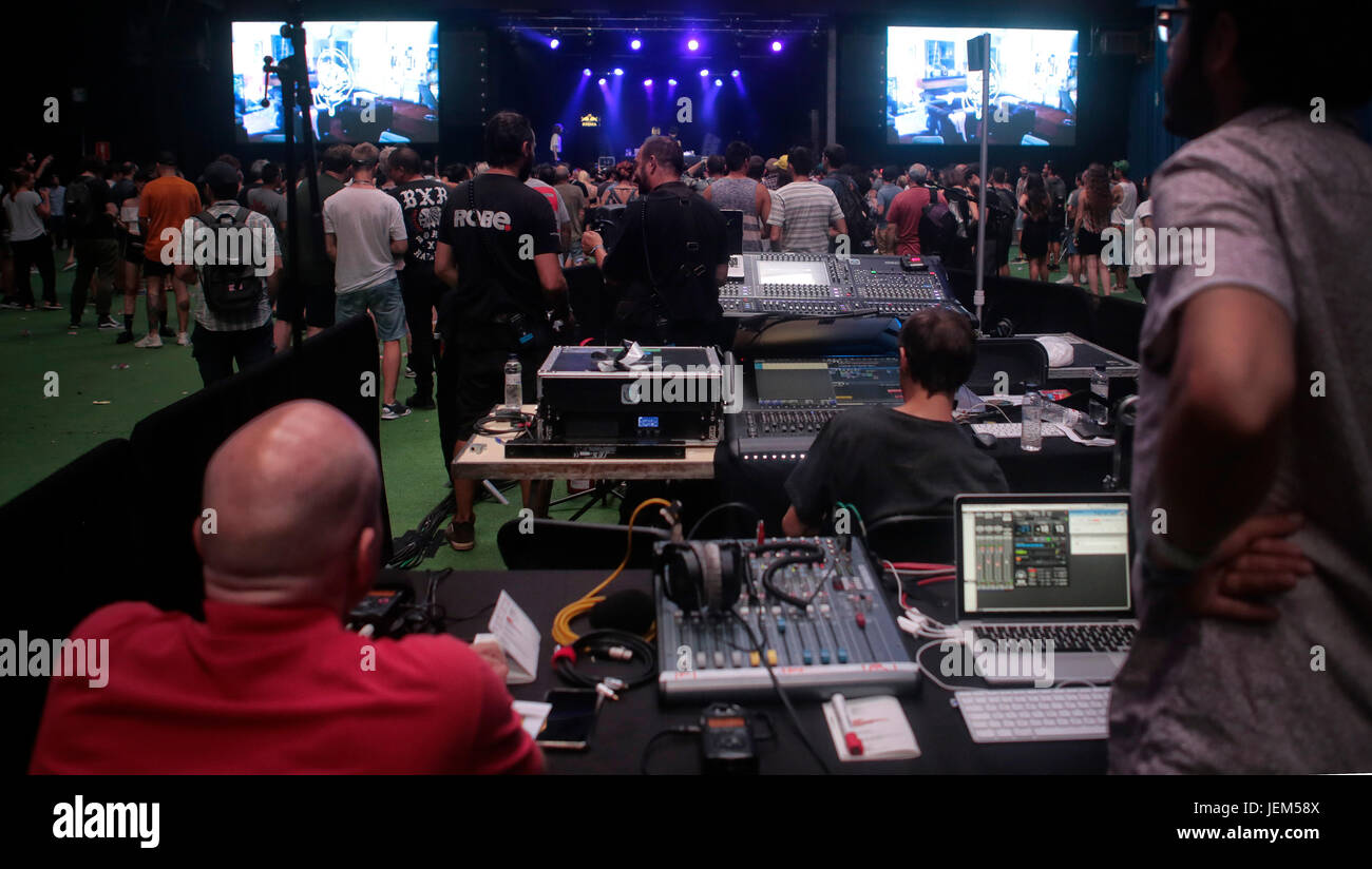 Sound control during event - Stock Image