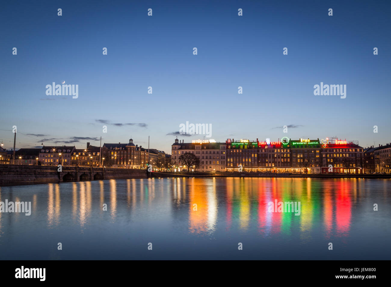Copenhagen Neon Lights - Stock Image