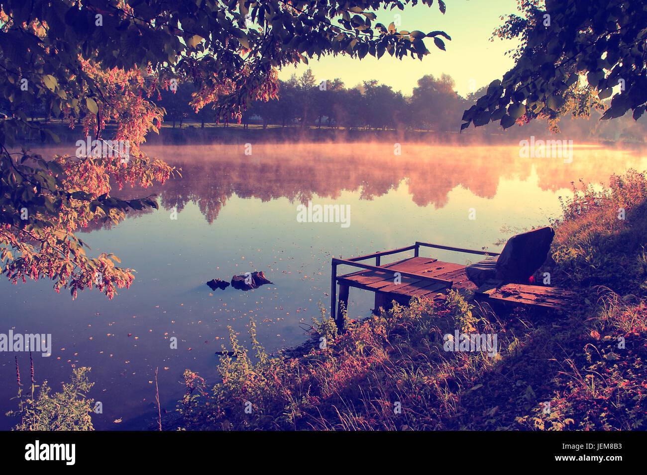 Vintage photo of autumn scene - Stock Image