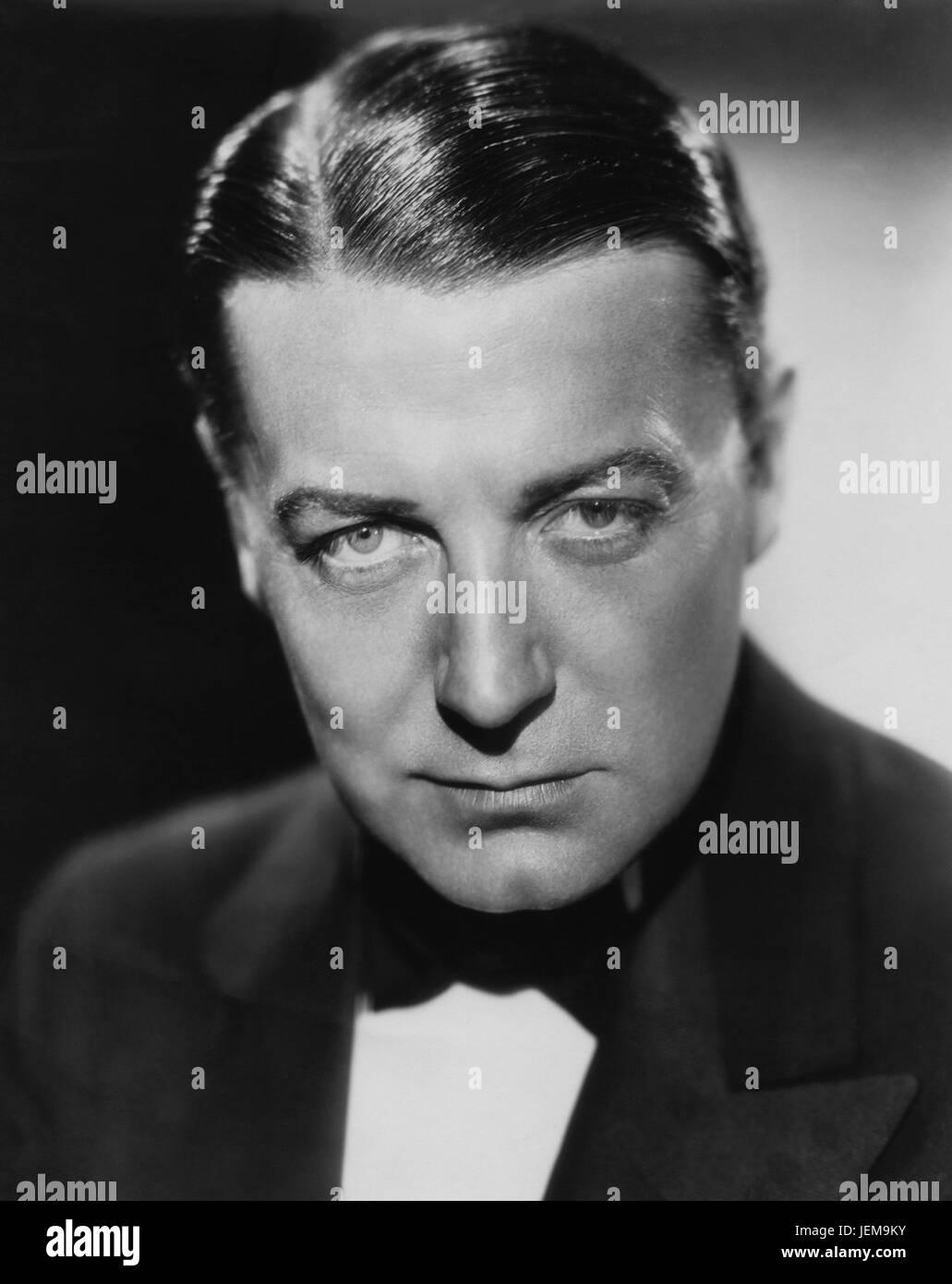 Actor Clive Brook, Publicity Portrait, 1930's - Stock Image