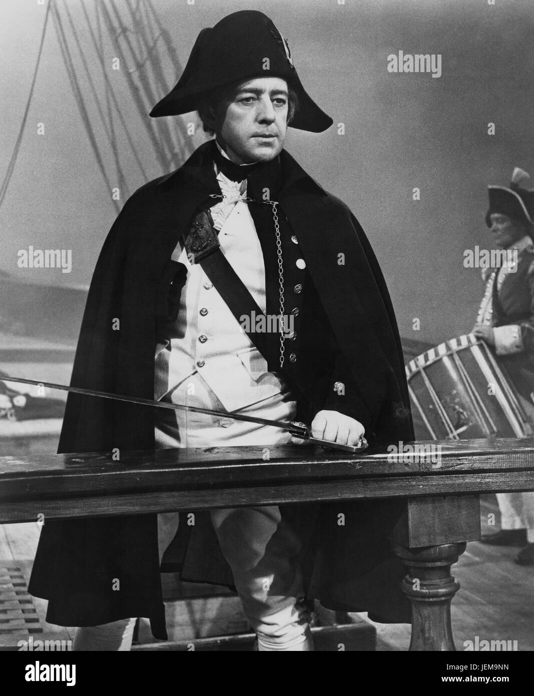 Alec Guinness, on-set of the British Film, 'H.M.S. Defiant', Columbia Pictures, 1962 - Stock Image